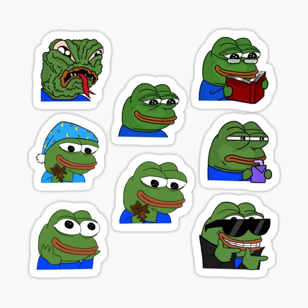 Conjunto de variedades Pepe the frog Pegatina