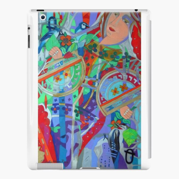 Queen of the Birch Trees giclee with borders iPad Snap Case