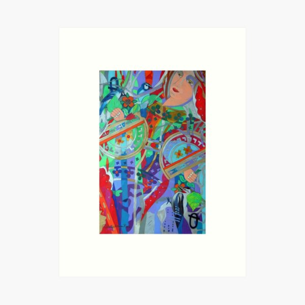 Queen of the Birch Trees giclee with borders Art Print