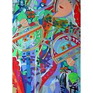 Queen of the Birch Trees giclee with borders by Denise Weaver Ross
