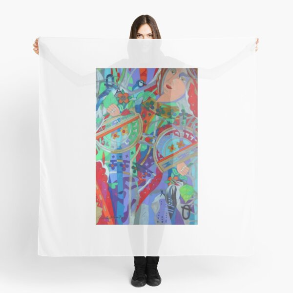 Queen of the Birch Trees giclee with borders Scarf