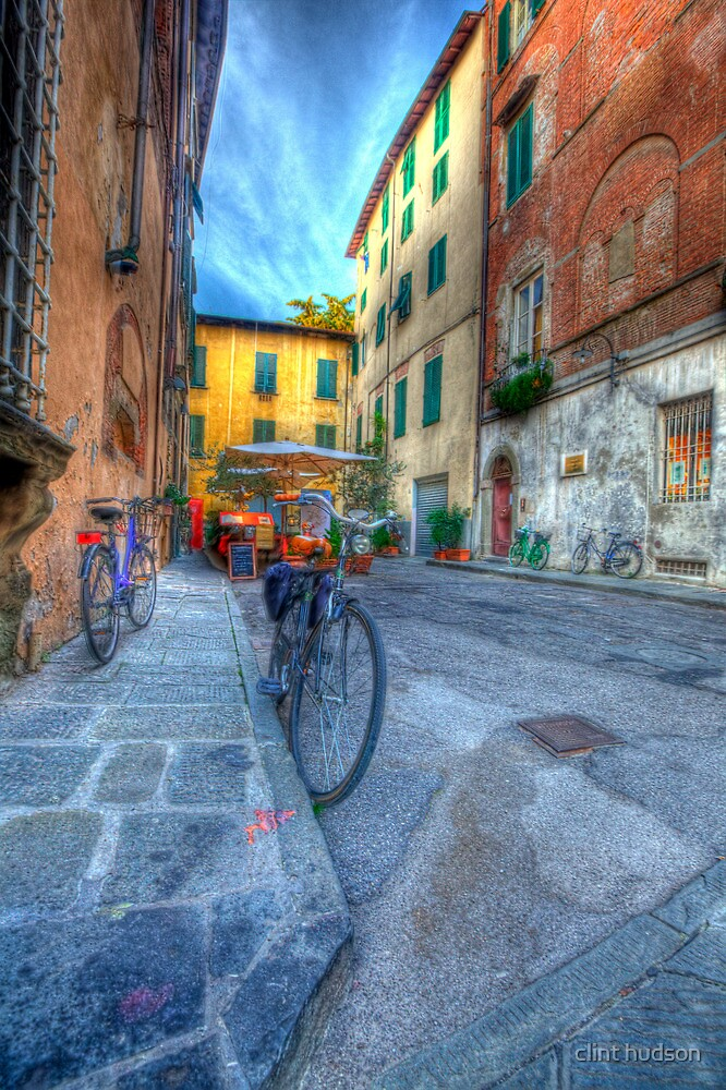 EARLY EVENING IN LUCCA by clint hudson