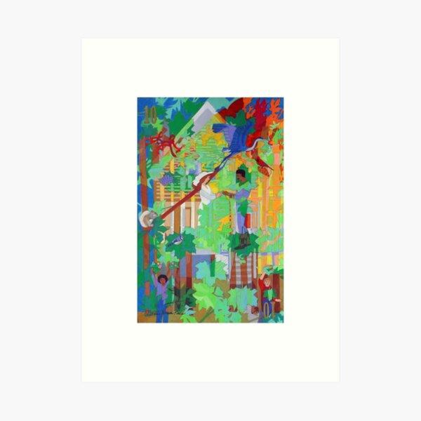Under the Ten (x2) Maple Trees Art Print