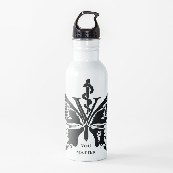 Vet Med After Hours You Matter Butterfly Water Bottle Water Bottle