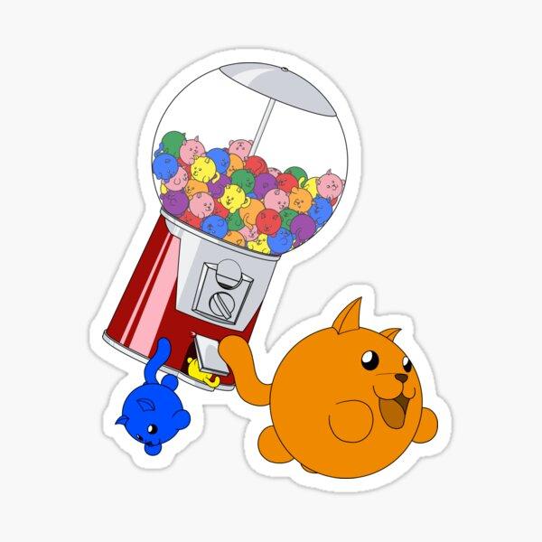 Cat Gumball Machine - Rainbow Sticker