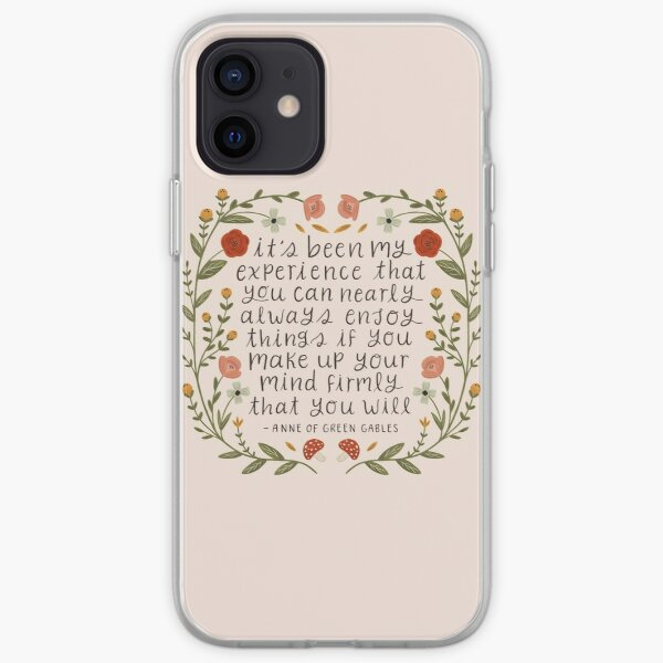 "Anne of Green Gables ""Enjoy Things"" Quote iPhone Soft Case"