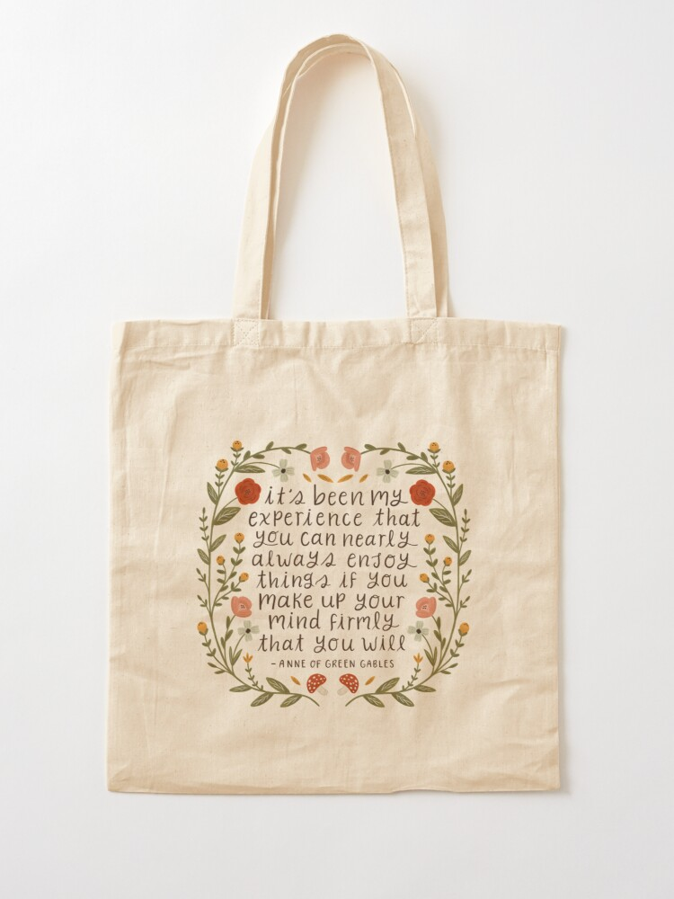 """Alternate view of Anne of Green Gables """"Enjoy Things"""" Quote Tote Bag"""