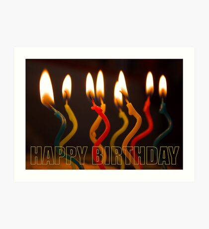 curly candles b-day card Art Print