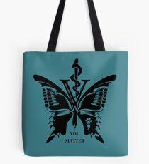 Vet Med After Hours You Matter Butterfly Tote Bag Tote Bag