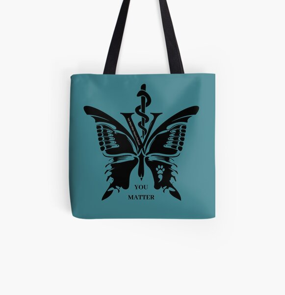 Vet Med After Hours You Matter Butterfly Tote Bag All Over Print Tote Bag