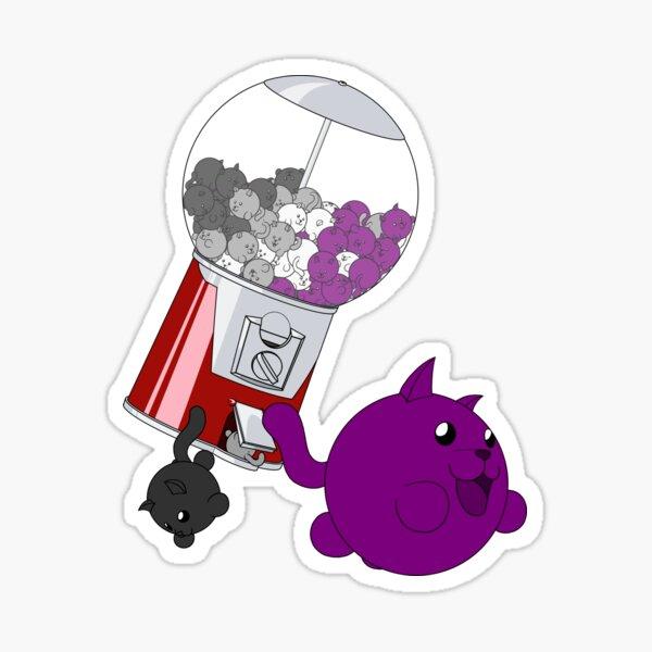 Cat Gumball Machine - Asexual Sticker