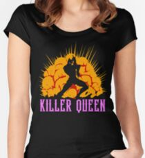 Camiseta entallada de cuello redondo Reina Asesina