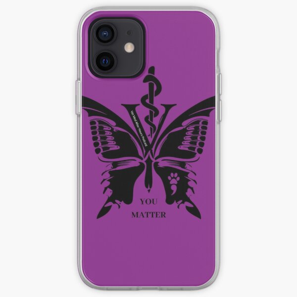 Vet Med After Hours You Matter Butterfly iPhone Cases iPhone Soft Case