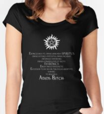 Supernatural Adios Bitch Exorcism Women's Fitted Scoop T-Shirt