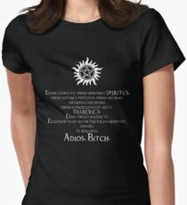 Supernatural Adios Bitch Exorcism Women's Fitted T-Shirt