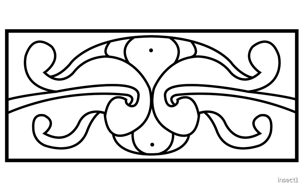 Pictish Rectangle (Shield or Book Cover) - Clean by insect1