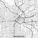 Los Angeles Karte Grau von HubertRoguski