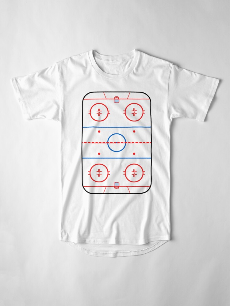 Alternate view of  Ice Rink Diagram Hockey Game Companion Long T-Shirt