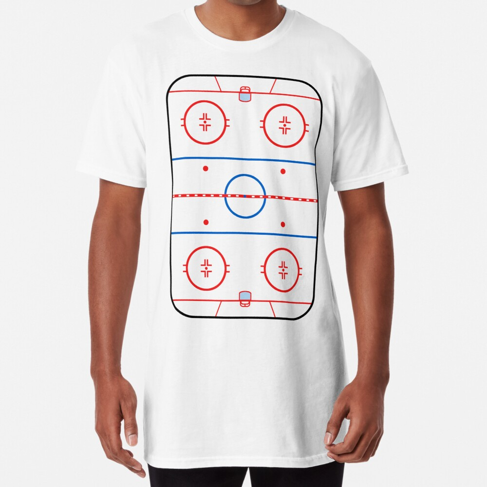 Ice Rink Diagram Hockey Game Companion Long T-Shirt
