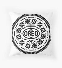Oreo Cookie Symbol (Black) Throw Pillow