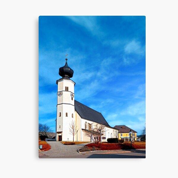 The village church of Sankt Veit / Mkr 3 Canvas Print