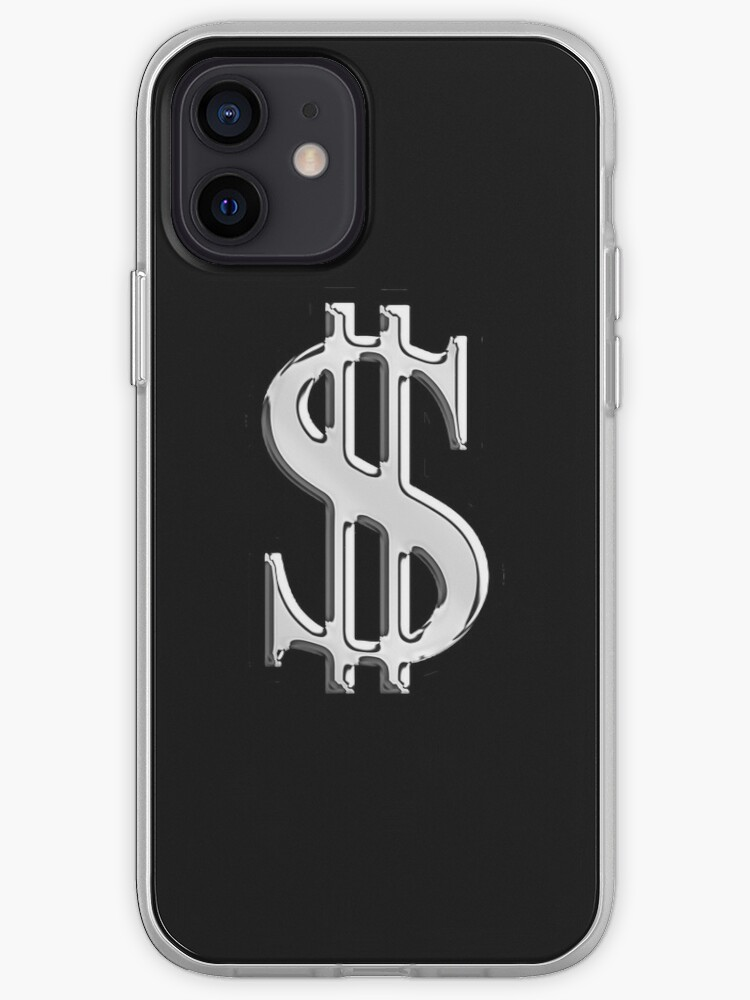 Signe de Dollar de Style Chrome | Coque iPhone