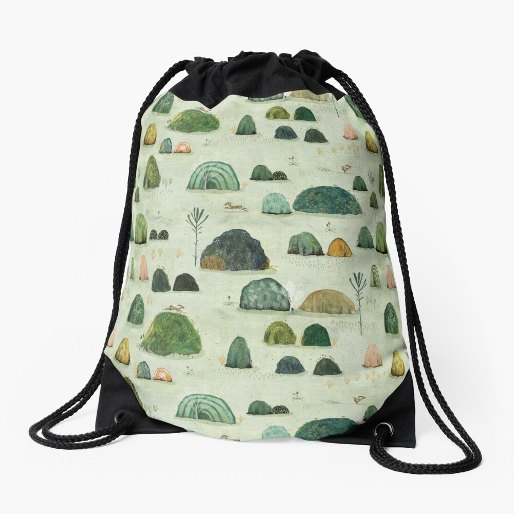 Mossy Hills Drawstring Bag
