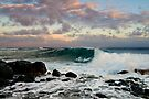 hawaii shoreline at sunset by Flux Photography