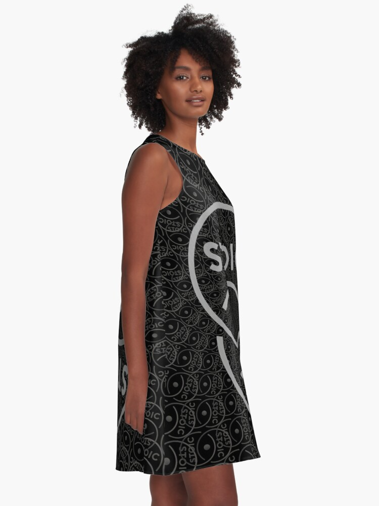 Alternate view of Stoic S Chain - Stay Stoic! A-Line Dress