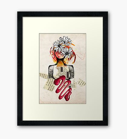 Scribble my world Framed Print