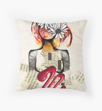 Scribble my world Throw Pillow