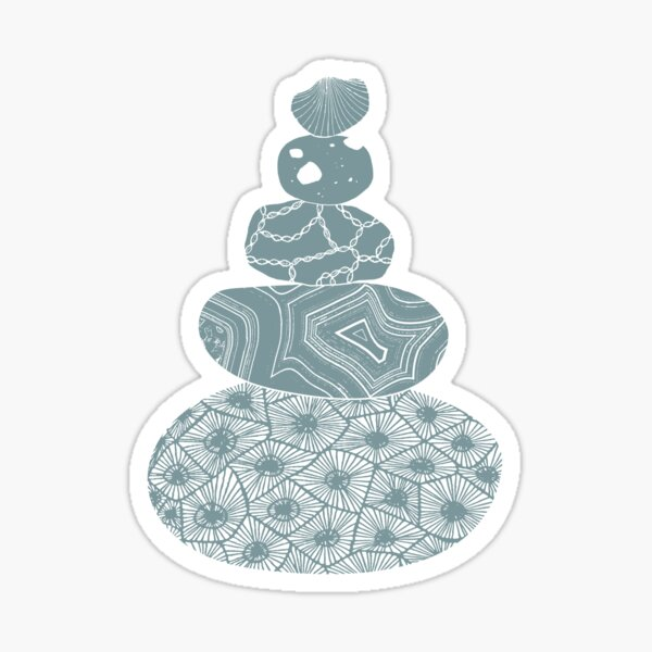 Stacked Great Lakes Rocks Sticker