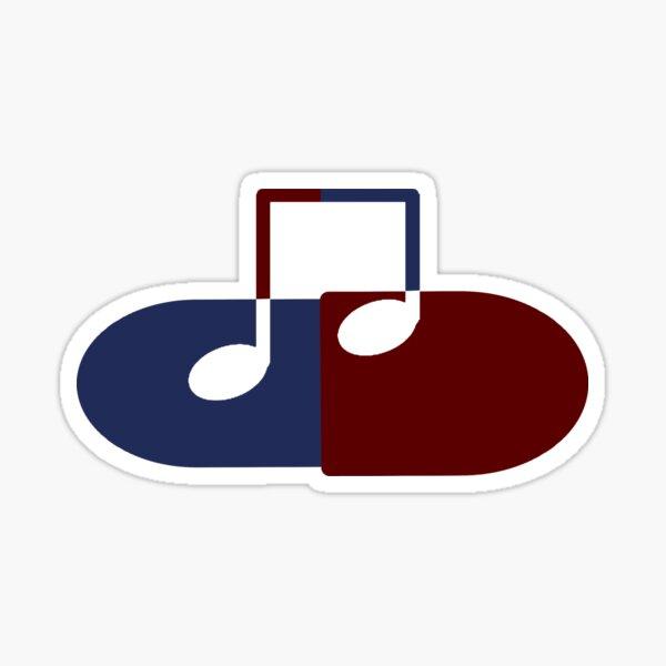 The Music Pill Sticker
