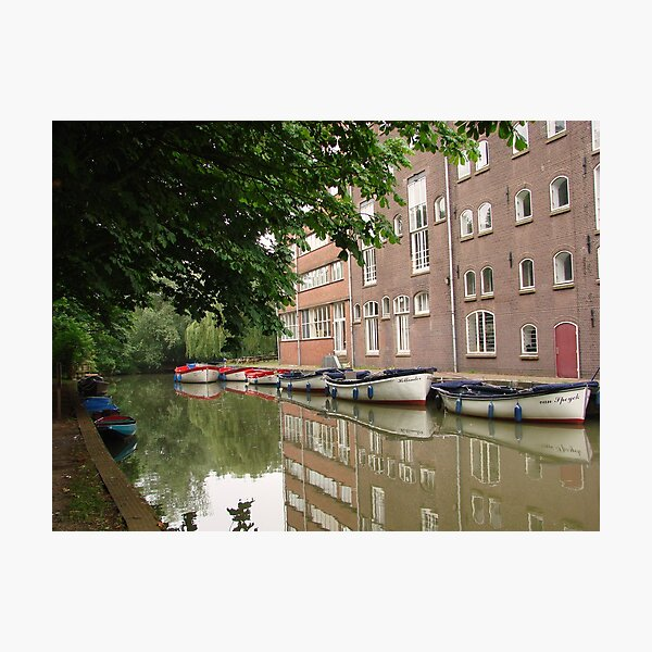Canal Boat Parking Photographic Print