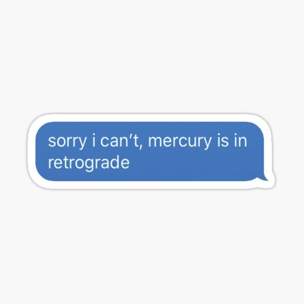 Mercurio retrógrado Pegatina