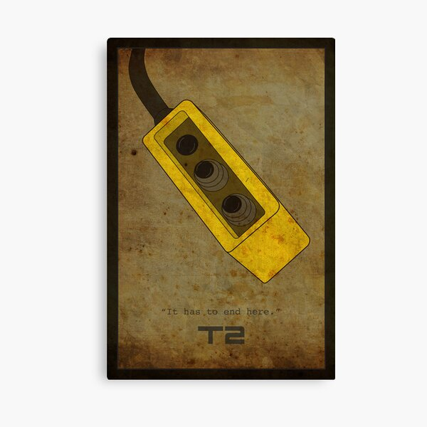 Terminator 2 (alternative poster 2) Canvas Print