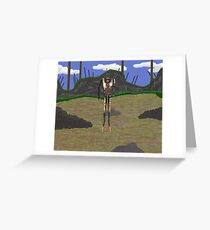 Humanoid claptrap Greeting Card