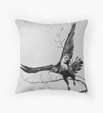 Bald Eagle Takes Off  Throw Pillow