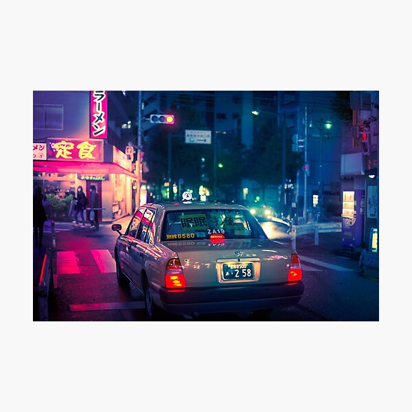 Late night taxi ride Photographic Print