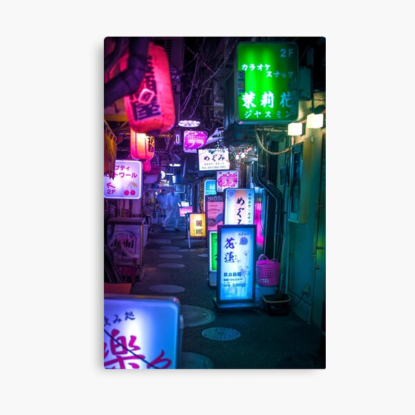 Neon Overload Canvas Print