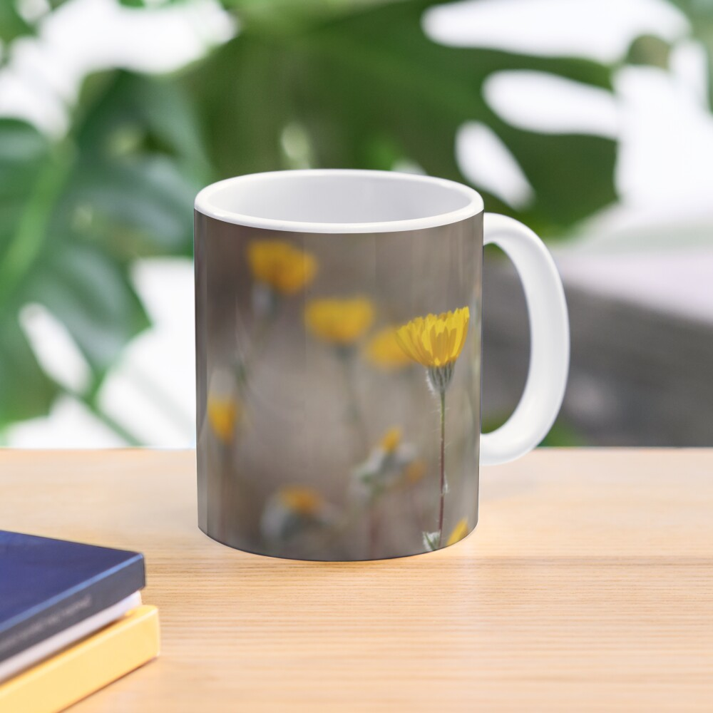 Closeup Desert Sunflowers Coachella Wildlife Preserve Mug