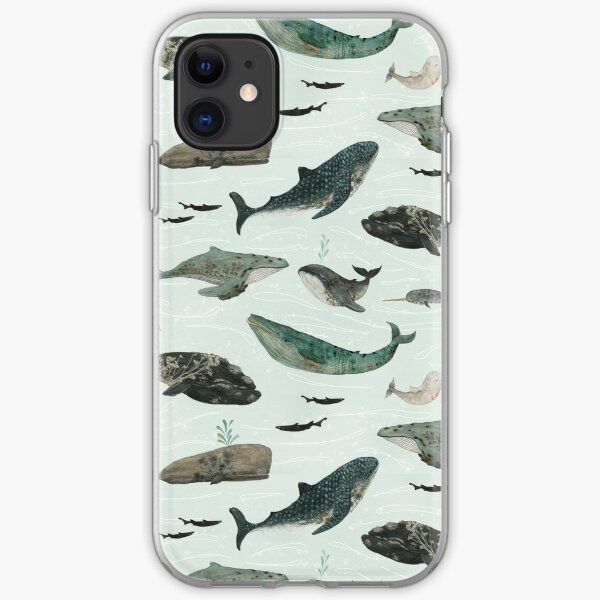 Tattooed Whales iPhone Soft Case