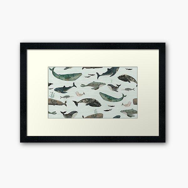 Tattooed Whales Framed Art Print