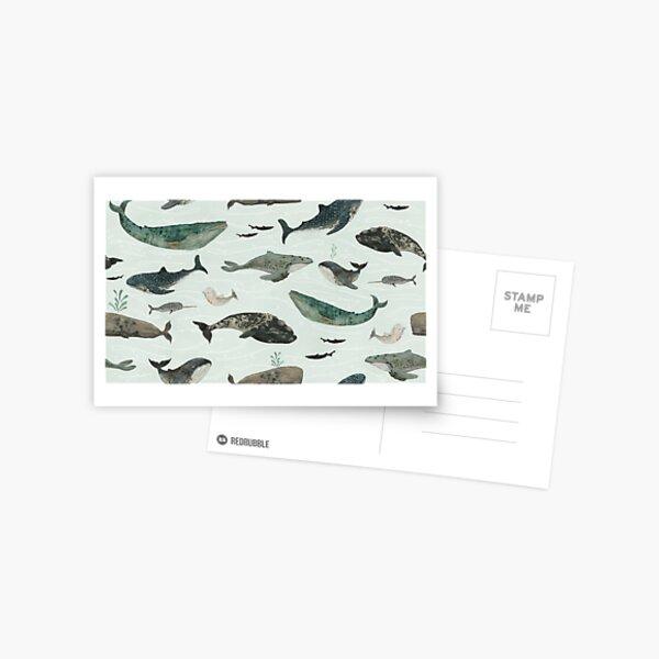 Tattooed Whales Postcard