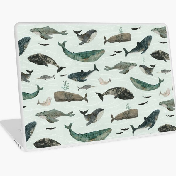 Tattooed Whales Laptop Skin