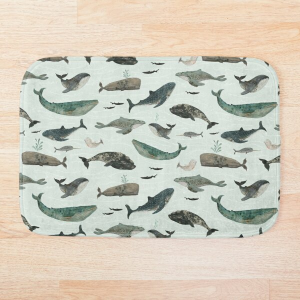 Tattooed Whales Bath Mat