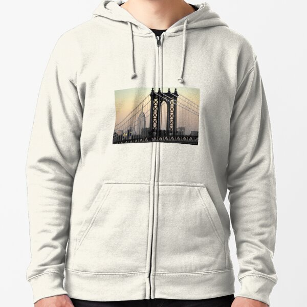 Manhattan Bridge Zipped Hoodie