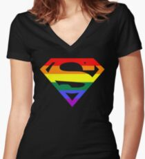 Super Queer 2 Women's Fitted V-Neck T-Shirt