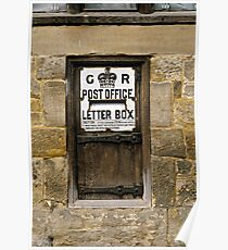 Wooden Letter Box, Sussex, UK. Poster