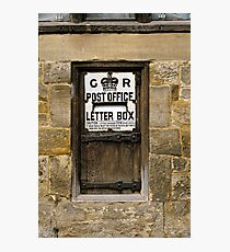 Wooden Letter Box, Sussex, UK. Photographic Print